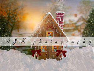 gingerbread house composite