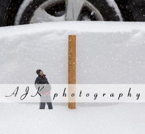 ruler in snow composite